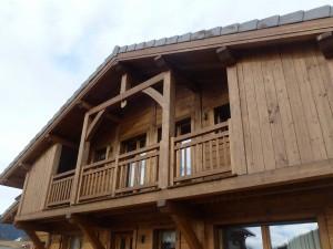 Balcon chalet bois