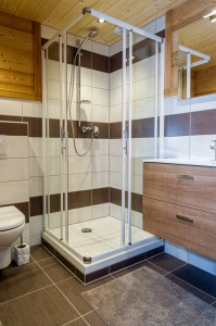 Salle de bain chalet bois